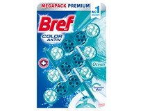 Bref WC Color Aktiv Ocean Turquoise Water 3x50g