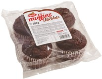 Muffiny čokoládové s čoko kousky 4x75g