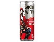 Captain Morgan&Cola 5% nápoj 12x250ml