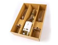 Víno z Kobylí Frizzante Muškát 1x750ml + sklenice 2ks