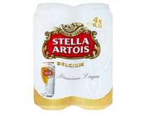 Stella Artois světlý ležák pivo 4x500ml plech