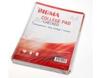 Blok spirálový Sigma A4/80 čtverečkovaný 5ks