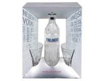 Finlandia vodka 40% 1x700ml + sklenička 1x2ks