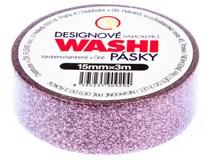 Páska lepicí Washi třpytky 3m 1ks