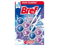 Bref WC Power Aktiv blok lavender field 2x50g