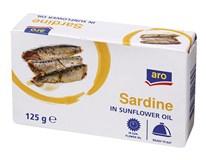 ARO Sardinky v rostlinném oleji 5x125g
