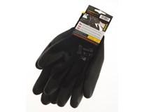 Rukavice pracovní dlaň+prsty černé 1 pár