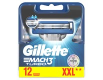 Gillette Mach3 Turbo náhradní hlavice 1x12ks