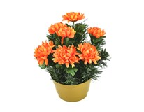 Dekorace dušičková s květinami 1ks