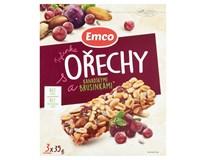 Emco Tyčinka ořechy/brusinka 3x35g