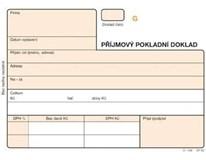 Příjmový pokladní doklad číslovaný samopropisovací 5ks