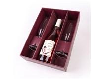 Víno z Kobylí Frizzante rosé 1x750ml + sklenice 2ks