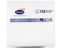 Duni Ubrousky 33cm 2-vrstvé bílé 1x125ks