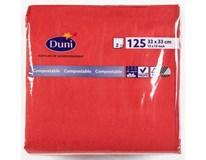 Duni Ubrousky 33cm 2-vrstvé červené 1x125ks