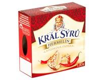 Král sýrů Hermelín s červenou paprikou chlaz. 1x120g
