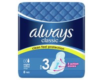Always Classic Night dámské vložky 1x8ks