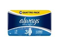 Always Ultra Quatro Night dámské vložky 1x28ks