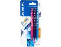 Pilot Frixion Clicker 07 fialová/růžová/sv.modrá 3ks