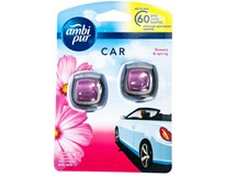 Ambi Pur Car Flowers&spring osvěžovač 2x2ml