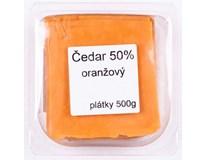 Čedar oranžový 50% sýr plátky chlaz. 1x500g