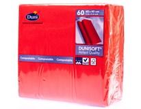 Dunisoft Ubrousky 40x40cm červené 1x60ks