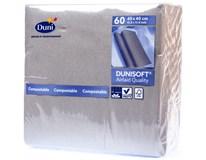 Dunisoft Ubrousky 40x40cm tmavě šedé 1x60ks