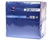 Duni Ubrousky tmavě modrá 2-vrstvé 33cm 1x125ks