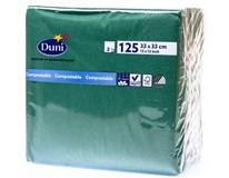 Duni Ubrousky tmavě zelená 2-vrstvé 33cm 1x125ks