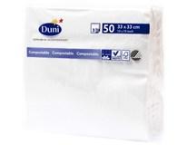 Duni Ubrousky bílé 33cm 3-vrstvé 1x50ks