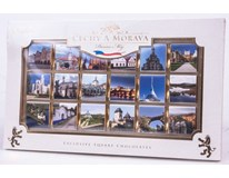 Čechy a Morava Čokoláda hořká 70% neapolitánky kolekce 1x90g