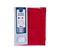 Zástěra dlouhá s kapsou Metro Professional 90x90 červená 1ks