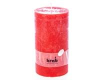 Svíčka Rustik vonná 70x130mm červená 1ks