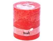 Svíčka Rustik 120x140mm 3knoty červená 1ks