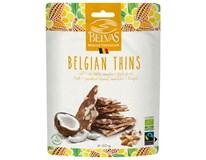 BelBio Belgian Thins Čokoláda mléčná 36% s kakaovými boby 1x120g
