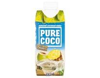 Pure Coco 100% kokosová voda a ananas 1x330ml