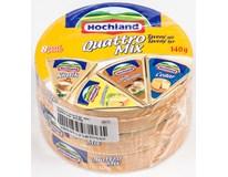 Hochland Quattro Mix sýr tavený 45% chlaz. 3x140g