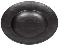 Talíř hluboký porcelánový na těstoviny Vulcania 29cm černý 1ks