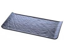 Podnos Vulcania 26,5x13cm černý porcelán 1ks
