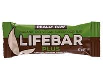Lifebar Tyčinka čokoládová s proteiny BIO 1x47g