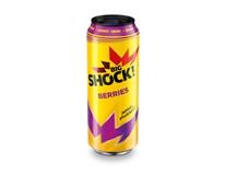 Big Shock! Raspberry energetický nápoj 6x500ml plech