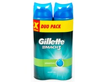 Gillette Mach3 Sensitive gel na holení 2x200ml