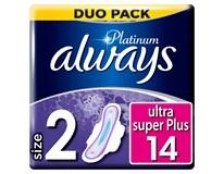 Always Ultra Duo Platinum super dámské vložky 1x14ks