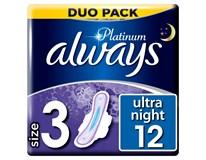Always Ultra Duo Platinum night dámské vložky 1x12ks
