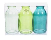 Sada lahviček dekorativní zelené 3ks