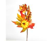 Větvička podzimní s dýní 1ks