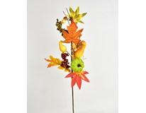 Větvička podzimní s dekorací 1ks