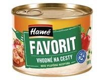Hamé Favorit vepřové maso, červ. paprika, hrášek 10x180g