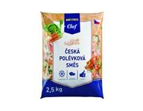 Metro Chef Česká polévková směs zelenina mraž. 1x2,5kg