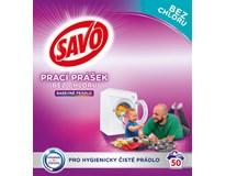 Savo Color Prášek na praní bez chloru na barevné prádlo (50 praní) 1x3,5kg