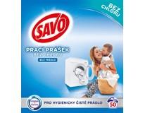 Savo White bez chlóru Prášek na praní (50 praní) 1x3,5kg